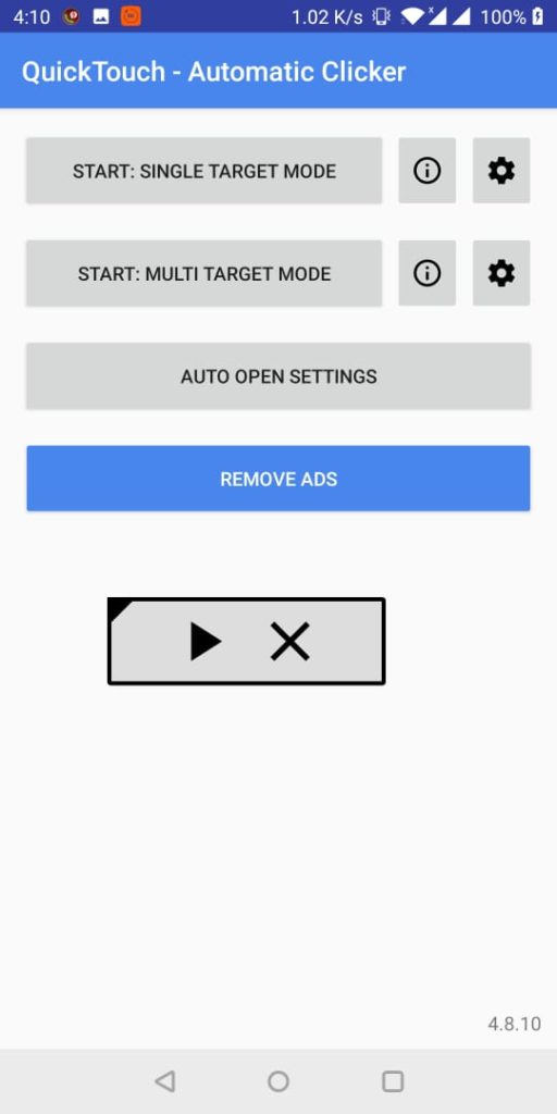 QuickTouch - Automatic Clicker single target mode