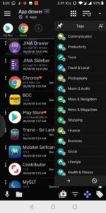 Jina app drawer