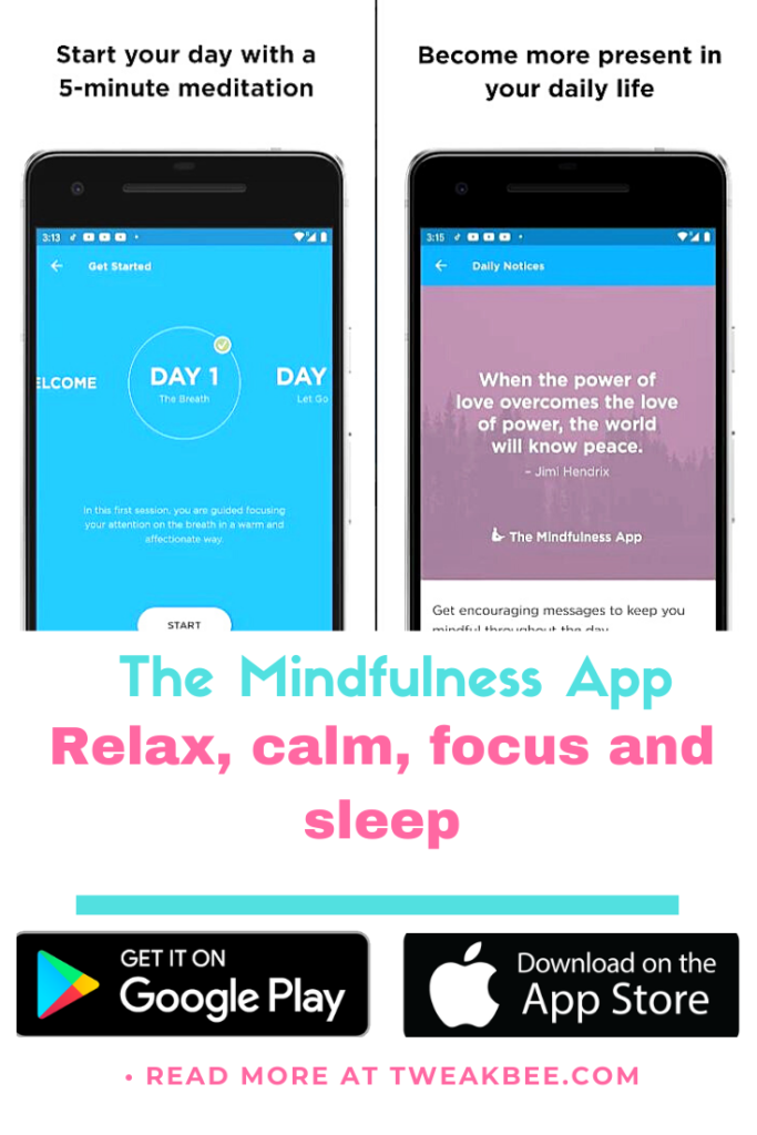 free calming apps-The Mindfulness App