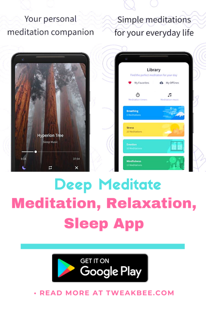 Free calming apps - Deep Meditate