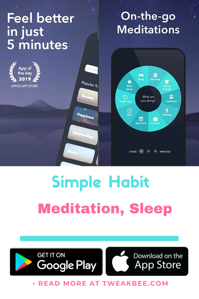 Simple Habit free calming app