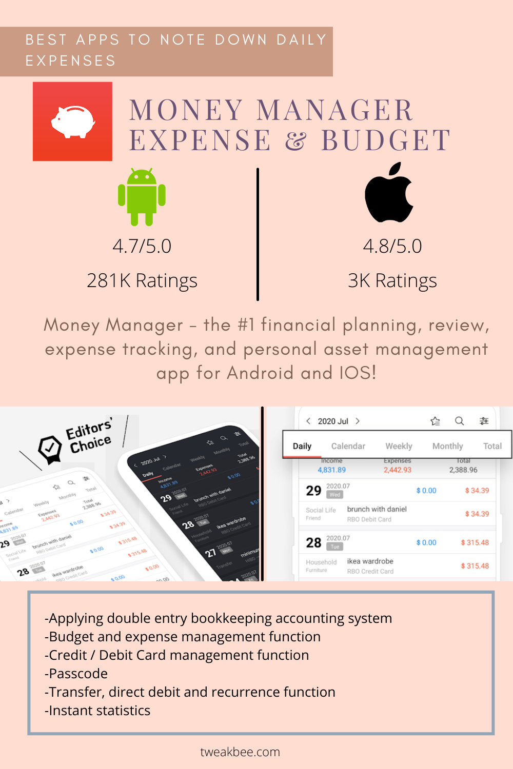 Money Manager Expense & Budget - Best Apps to Note Down Daily Expenses